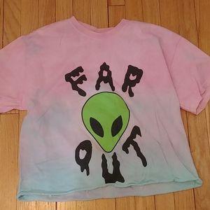 Tye dye alien shirt
